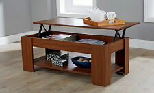 Wooden Rectangle Modern Coffee Tables with Flat Pack