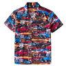 Mens Route 66 Hawaii Shirts Rockabilly 100% Cotton Top Casual Shirt Retro Design