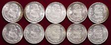 Lot 4 - 10 Mexican Silver Pesos All 1962 All Uncirculated Minor Toning - L@@K