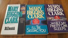 Lot of 3 Mary Higgins Clark paperback books, good condition