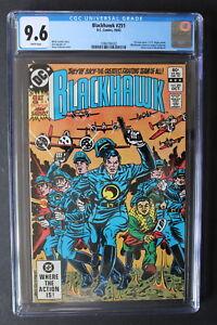 BLACKHAWK #251 ORIGIN Return 1982 Spiegle Black Knights SPIELBERG Movie CGC 9.6