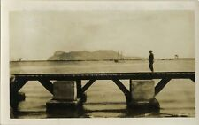 PHOTO ANCIENNE - VINTAGE SNAPSHOT - ROCHER GIBRALTAR ALGÉSIRAS PONT -BRIDGE 1931