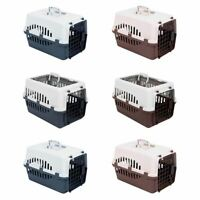 Pet Carrier Puppy Cat Dog Kitten Basket Cage Portable Travel Kennel Vet Safe Box