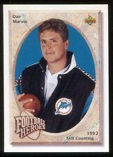 1992 Upper Deck Football Heroes Dan Marino #35 Miami Dolphins