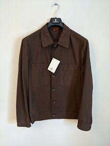 Barena Men's Chore Jacket Brown Size IT 52 BNWT