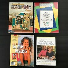 Lot 4 Scrapbooking Idea Books Creative Memories Vacation Pages Memory Makers