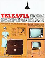 PUBLICITE ADVERTISING 016  1965  Teleavia Frigeavia téléviseur coffret Concorde