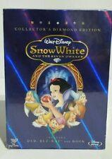 "Disney ""Snow White & the Seven Dwarfs"" Diamond Box Edition Bluray/DVD/Book / New"