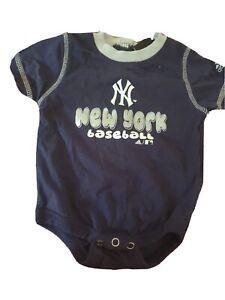 New York Yankees One Piece Boys Size 3-6 Months Adidas Blue Short Sleeve