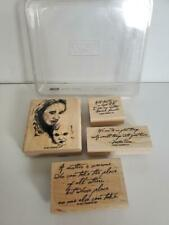 Stamping Up! ~ Mother & Child ~ USED ~ Wood Mounted