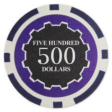 50 Eclipse 14g Purple $500 Five Hundred Dollars Poker Chips Buy 2 Get 2 Free NEW