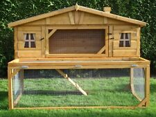 Mansion Hutch with drop run Chicken Rabbit Guinea Pig Small Animal