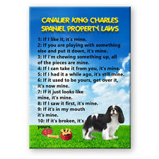 CAVALIER KING CHARLES SPANIEL Property Laws FRIDGE MAGNET No 1
