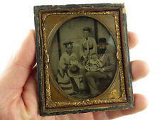 More details for antique ambrotype/collodion photograph~family group~thoughtful expressions etc.