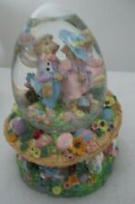 Vintage/New/ Collectible Spring Egg-Shaped Water Globe w/Musical Easter Parade
