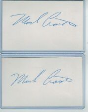 (2) MARK CIARDI INDEX CARD SIGNED 1987 BREWERS FILM PRODUCER PSA/DNA CERTIFIED
