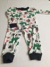 Baby Boy Infant 6 9 Months The Childrens Place 2 Piece Pajama Set White Dragons