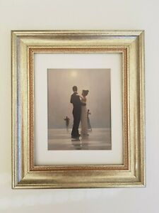 Dance me to the End of Love Jack Vettriano Framed Print Chunky Silver Frame