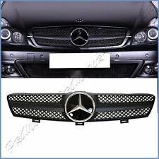 All Matte Black DTR Cover Front Mesh Grille W219 05-08 BENZ CLS350 CLS550 Sedan