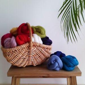79 Colours* 100% Pure Merino Wool Tops Wet & Needle Felting 20 - 80 grams