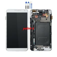 White for Samsung Galaxy Note 3 N9005 Touch Screen Digitizer LCD Display Frame