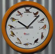 Vogel Uhr mit heimischen deutschen Original-Vogelstimmen ø 26cm     90-60