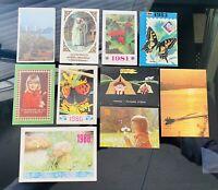 VINTAGE USSR 80s POST CARD POCKET CALENDARS LOT OF 10