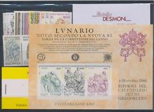 1982 Vatican, Stamps New, Year Complete 13 Val 1 Bf 1 Booklet MNH