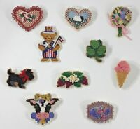Handmade Pin Magnet U CHOOSE Flower Heart Strawberry Shamrock Bear Dog Cow Lamb