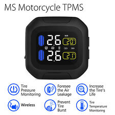Motorbike TPMS Wireless Tire Pressure Monitor System Air Leakage Monitor Digital