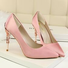 Women's Ladies Pointy Toe high heels Stitello Wedding Party Court Shoes Pumps