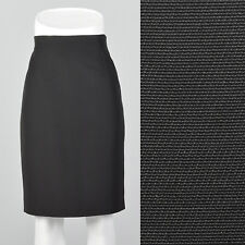 M 1990s Jil Sander Black Pencil Skirt Cotton Wool Blend Classic Separates 90s