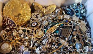 Vintage Mod Jewelry Lot Necklace Bracelet Earring Signed Avon Monet 12K GF 925 +