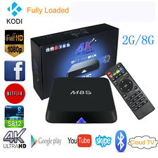 M8S Android 4.4 Smart TV Box S812 Quad Core 2G+8G XBMC H.265 3D 4K Media Player
