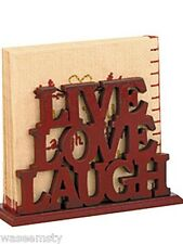 Live Laugh Love Country Western Theme Napkin Holder Kitchen Decor Organize