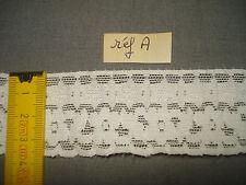 12 m dentelle ancienne Calais largeur 37 mm costume, couture... (réf A)