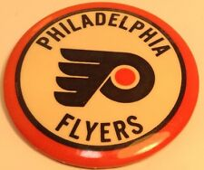 "Vintage NHL Hockey 2"" Button Pin ""PHILADELPHIA FLYERS"" Macaron LNH"