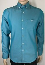 Express Size S/P Men's Shirt Slim Fit Long Sleeve Button Down Cotton/Polyester