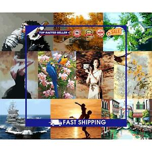 Painting By Numbers Kit DIY Canvas Oil Wall Art Picture Ornaments Home Wall