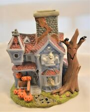 Partylite Ghostly Tealight House P7862 Porcelain Halloween Decor