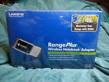 LINKSYS WPC100  Range Plus Wireless Notebook Adapter. NEW