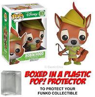 Funko POP! Disney ~ ROBIN HOOD VINYL FIGURE w/Protector Case