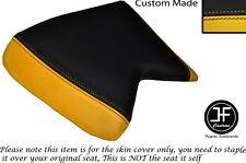 Amarillo y Negro de vinilo se ajusta Cagiva Mito Personalizado 125 90-94 frente cubierta de asiento solamente