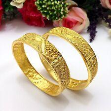 INDIAN Asiatico Taglia: 2.6 Pakistano Da Sposa Gioielli Placcato Oro 22ct Bracciali