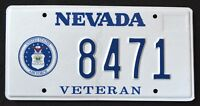 """NEVADA """" U.S. VETERAN - AIR FORCE """" NV Military Specialty License Plate"""