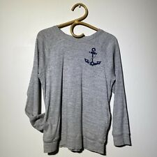 Size 14 Kids J.CREW CREWCUTS Long Sleeve Anchor Print T-Shirt Top