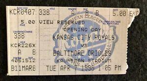 Kansas City Royals vs Baltimore Orioles Opening Day April 7, 1998 Ticket Stub