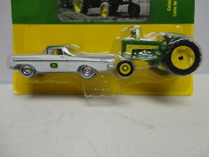 Ertl JOHN DEERE '59 CHEVY El CAMINO with 1959 630 TRACTOR JD 1/64 set