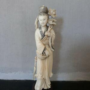 OKIMONO statuette japonaise ivoire début XXe - Art asiatique