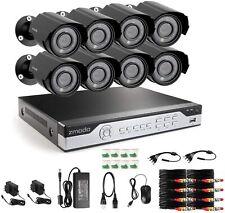 Zmodo 8Channel Security Camera System DVR & 8 x 700TVL Analog Cameras No HDD